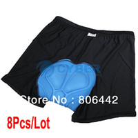 Wholesale 8Pcs New Men s Cycling Underwear D Padded Bike Bicycle Base Shorts Pants Under Size M L XL XXL XXXL