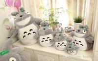 New Livraison gratuite Totoro Plush Toys Dans 20 45 55 75 cm Jouets pour enfants petit chat Poupées anniversaire de filles Cadeau de Noël Tuba MYF20