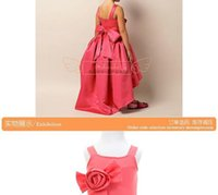 baby girl wedding dress - 2015 baby girl wedding dress trumpet dresses red girl party dress with big bow