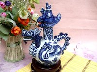 antique hip flask - Cj c025 ceramic blue and white hip flask porcelain sculpture pot antique porcelain wine