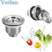 apron sink kitchen - mm quot Kitchen Sink Basket Strainer with Cover stainless steel kitchen sink strainer YT