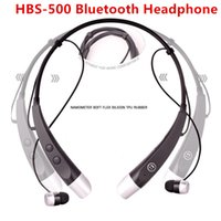 Cheap HBS-500 Headset Bluetooth 4.0 with Microphone HBS500 Headphone Neckband In-Ear Sports Earbuds for LG Tone Mobile MP3 Universal
