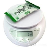 5kg 5000g x 1g digital de cocina pesaje electrónico Escala de la dieta alimentaria de Balance