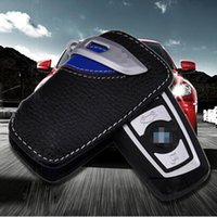 car keys - Luxury Genuine Leather Car Key Wallet Ring Holder Bag Cover for BMW X1 X3 X6 Z4 M3 Keychain Case with retail package Dropship