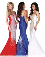 Cheap 2015 Cascades Mermaid Sweetheart Epic Formals Prom Evening Dresses 3770 Floor Length Organza Crystal Beading Lace Up Formal Evening Gowns