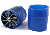 Wholesale Blue Universal Car Fuel Gas Market Replacement Air Intake Flow Turbo Dual Fan Rubber Holder For Honda Hyundai Mazda Audi