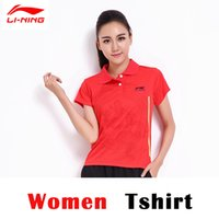 Wholesale LI NING Table Tennis Polo Shirt Dragon pattern Men and Women Model Quick Dry Table Tennis Shirts AAYF368