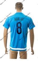 2015-16 Colombia # 8 AGUILAR azul Soccer formación Jersey Tailandia del fútbol de calidad jerseys del balompié barato personalizada Fútbol Acepte la orden de la mezcla