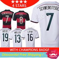 football shirt - 4 Stars Germany Jersey Germany Soccer Jerseys SCHWEINSTEIGER OZIL MULLER KLOSE REUS Champion alemanha Football Shirts