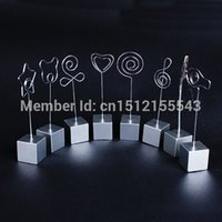 Wholesale DIY Craft Desk Metal Wires Card Picture Photo Clip Memo Hold Holders clay cake clamp