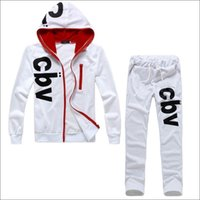 Wholesale NEW Men Sport clothing SET sport Suit Set hoody pants piece Men Tracksuits Printing CBV male sportwear