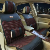 Wholesale Danny leather imitation ice silk car seat new hand knitted cushion ice silk upholstery factory outlets