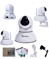 Wholesale Xenon Pan tilt robot wifi IP camera MP CMOS p2p function wireless surveillance cloud ip camera