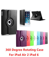 Wholesale Fashion NEW Degree Rotating Leather Flip Stand Smart Wake Sleep Case Cover For Apple iPad Air ipad ipad5