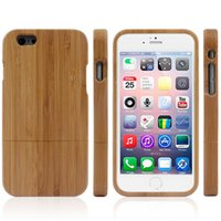 Wholesale New Natural Bamboo pattern Wood Wooden Combo Case wooden key Hard Case Cover For for iphone G S iPhone