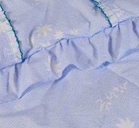 Promoción al por mayor-Caliente! luz linda del estilo de la flor púrpura suave 1,5 kg cálido edredón de seda pura del verano por completo / reina edredón del cordón del tamaño 200x230cm