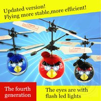 Wholesale New arrival Classic Electric Electronic Toys RC Flying Fly Bird Helicopter UFO Ball with lights in eyes
