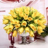 silk tulips - cusp pu tulip flower real touch wedding flower artificial flower silk flower home decoration