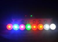 plastic pendant lights - 2015 Pet Supplies Light LED Light Pendant Round Pendents Dog Bell Waterproof Dog Collars Glow Modes Flash Modes Pet Pendants