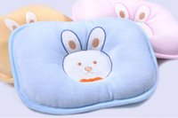 Wholesale Velvet baby pillow newborn baby pillow shape anti migraine supplies cartoon pillow case for children multiple colour