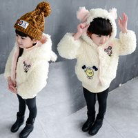 babygirl clothes - girls baby clothes babygirl bear ear added Cartoon plus thick plush coat winter for fashion