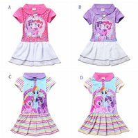 little girls dresses - my little pony dresses short sleeve girls cartoon strip dress cute baby girl casual outfits kids leisure clothing for T