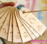 Wholesale New Creative cartoon designs wood Bookmark Book marks Wooden Tags