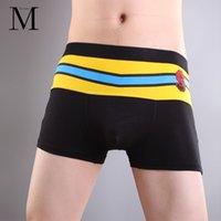bear panties - Men Boxers Bear Underwear Shorts Cotton Boxers Mens Panties Print Striped Roupa Masculina Short Ropa Interior Hombre Trunks