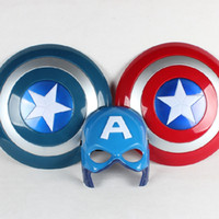 america performance - Marvel s The Avengers LED Mask and Shield Captain America Cartoon Anime Weapons Model Children Cosplay Performance Props Kids Toys