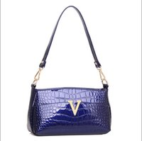Wholesale Fashion Women bolsas femininas Crocodile Pattern Leather Shoulder Bag Female Tote Sac Handbag Paint Surface
