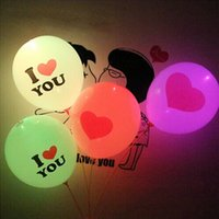 flashing toys - I LOVE YOU Style LED Balloon Flashing Balloons Glowing Light Up Toy Party Filler Wedding Halloween Holiday Decorative Lights waitingyou