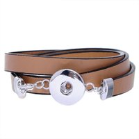 belt straps with snaps - Fluorescence PU leather strap with a circular Noosa DIY personalized snap button bracelet lobster clasp