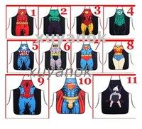 Wholesale Sale New Novelty Funny Superhero Series Superman Spider man Batman Aprons Size cm cm