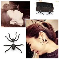 Wholesale 2016 New Punk Style Women Earrings Top Quality Crystal Set Auger Spider Type Lady Girls Earring Crystal Jewelry