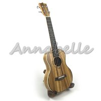Wholesale Concert Tenor Ukulele quot quot inch Uke Thin Barrel Zebra Wood four Strings Mini Guitar Musical Instruments