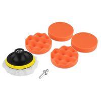 Wholesale set inch Buffing Pad Auto Car Polishing sponge Wheel Kit With M10 Drill Adapter Buffer hot selling