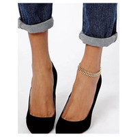 ankle foot bones - European American style Fashion Women Fish bone Anklet Ankle Bracelet Barefoot Sandal Chains Beach Foot