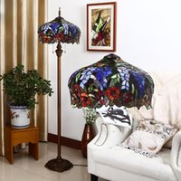 Wholesale Tiffany Floor Lamp European Style Stained Glass Light Fitting Coffee Bar Living Room Floor Lamp Creative Lamp