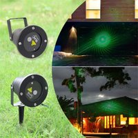 Wholesale Remote Controller in1 Xmas Outdoor IP65 waterproof Laser stage light pattern elf lighting red green firefly lamp projector GO RG