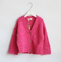 baby cable knit sweater - V neck Baby Girls Cable Knit Cardigan Sweaters S xl59