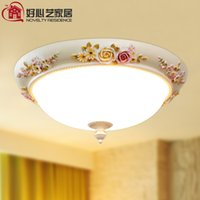Wholesale Genuine kindness Arts European pastoral style resin side room living room ceiling roses study lamp