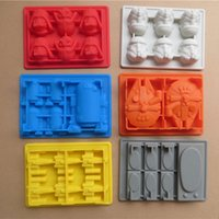 ice box - 2015 New US Star Wars Silicon ice tray Baking Moulds Ice Cube mould chocolate ice box