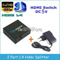 Wholesale Promotion Sale P HDMI Spliter Ports Hdmi Splitter D x2 HDMI Switch V Power Supply In Out Switcher For HDTV
