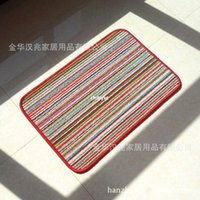 bathroom specials - 10pcs rugs carpet Special supply manufacturers rainbow colored stripes pads slip resistant mats doormat bathroom line loose wire m