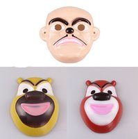 bear head mask - Factory direct sale masks Bear haunt children s cartoon series mask mask Xiong Xiong Erguang head strong green mask cartoon