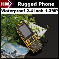 big screen cell phone - X6 Rugged Phone Waterproof Cell Phones inch Screen Dual SIM MP Camera Shockproof Dustproof Outdoor Mobile Phone Big D Sound FM DHL