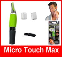 battery powered shaver - Micro Touch Magic Max Facial Cleaner Battery Powered Men Shaver Ears Hair Trimmer Shaver Built In Light