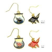 american goldfish - 10pcs European and American trade jewelry fashion new wind goldfish earrings Enamel earrings