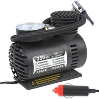 electric tire inflator - Portable Tire Inflator V W PSI Electric Car Tyre Air Compressor with Pneumatic Nozzle CEC_010