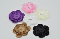Cheap Fabric Handmade Flowers Satin Layered Flowers For Hair Accessories 30pcs lot